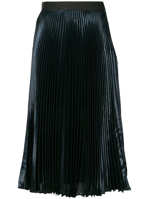 Christopher Kane Lamé Pleated Skirt - Farfetch