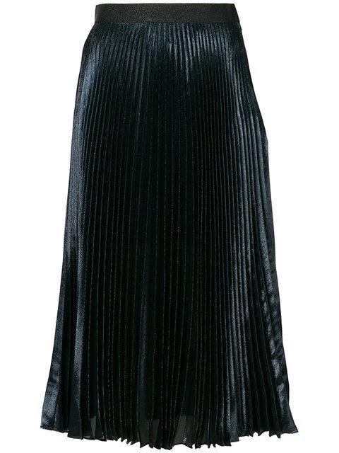 Christopher Kane Lamé Pleated Skirt - Farfetch