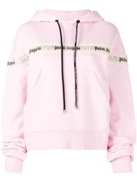 Palm Angels Lace Hoodie - Farfetch