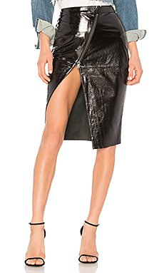 Reformer Patent Leather Skirt                                             One Teaspoon
