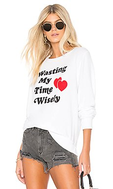 Wasting Time Baggy Beach Jumper Sweater                                             Wildfox Couture