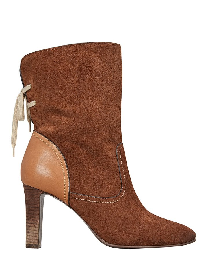Yvonne Lace-Up Back Suede Boots