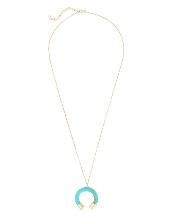 Horn Turquoise Necklace