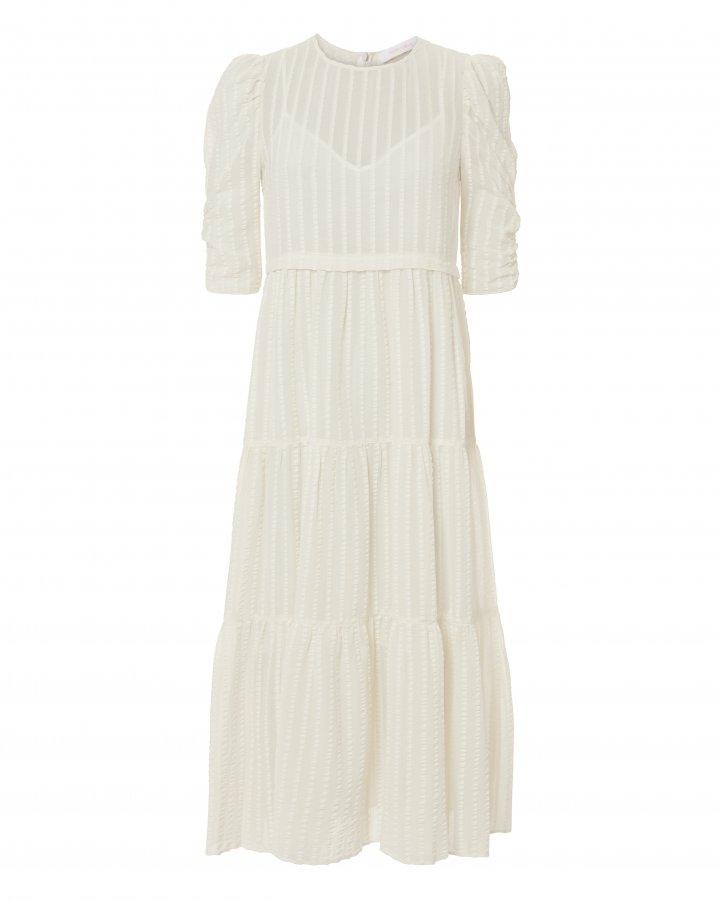 Tea Length White Dress
