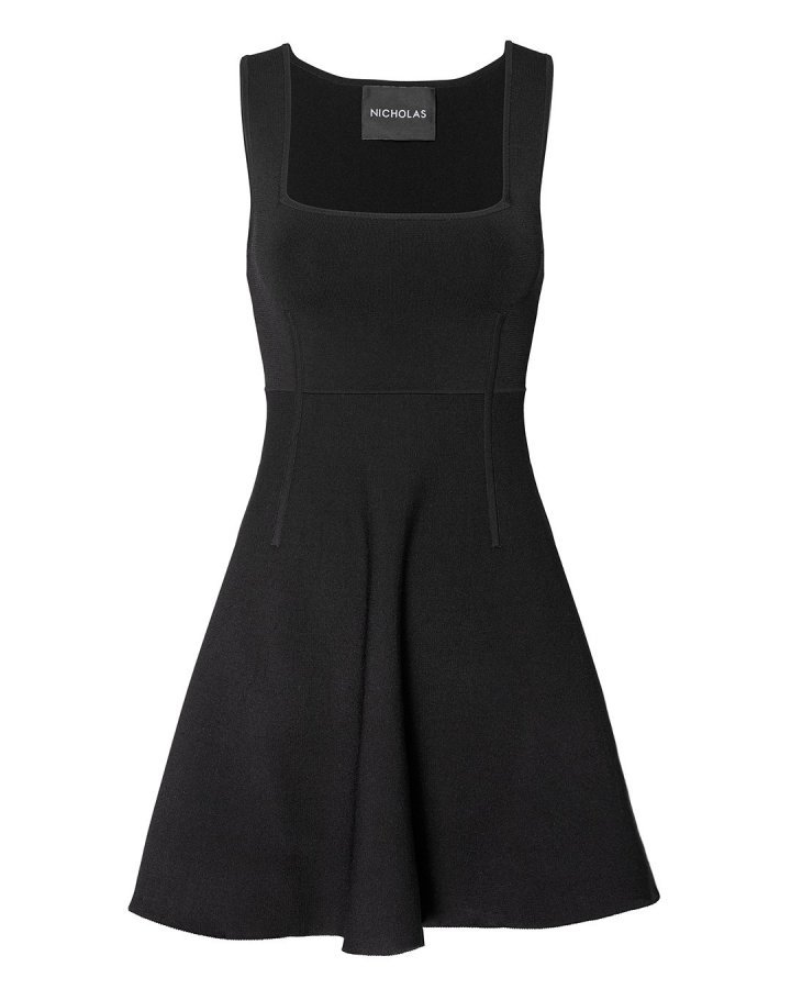 Milano Square Neck Mini Dress