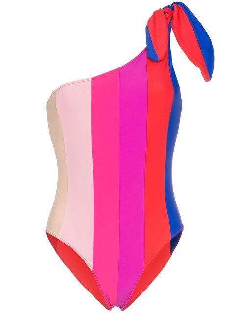 Paper London One-shoulder Striped Swimsuit - Farfetch