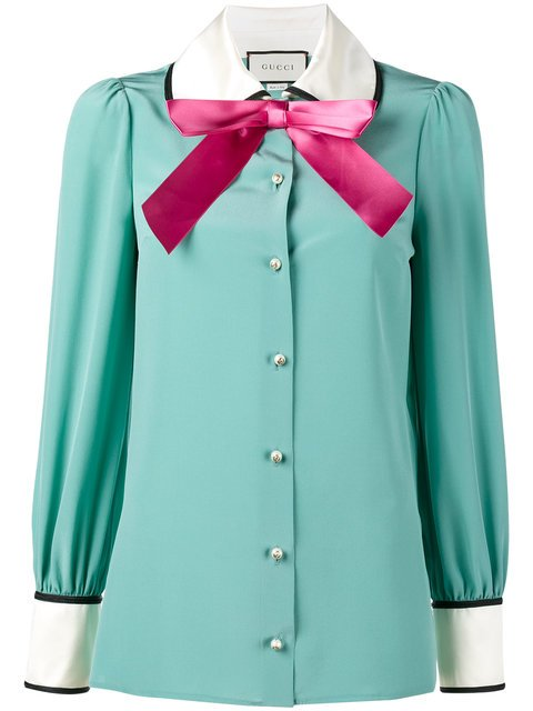 Gucci Long Sleeve Pussy Bow Blouse - Farfetch