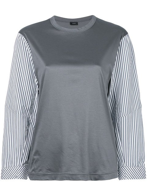 Joseph Striped Sleeve Blouse - Farfetch