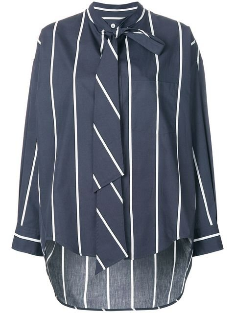 Balenciaga Striped Blouse - Farfetch