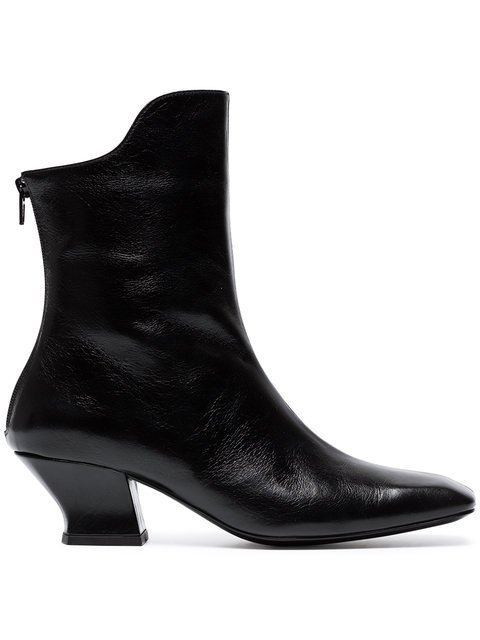 Dorateymur Black Han 50 Leather Ankle Boots - Farfetch