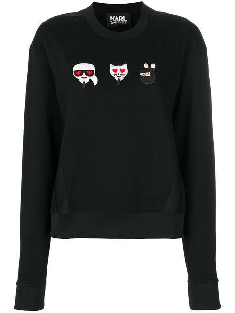 Karl Lagerfeld Emoji Karl & Choupette Sweatshirt - Farfetch