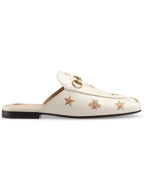 Gucci Princetown Embroidered Leather Slipper - Farfetch