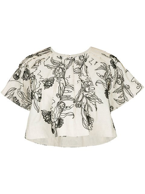 Aje Billa Cropped T-shirt - Farfetch