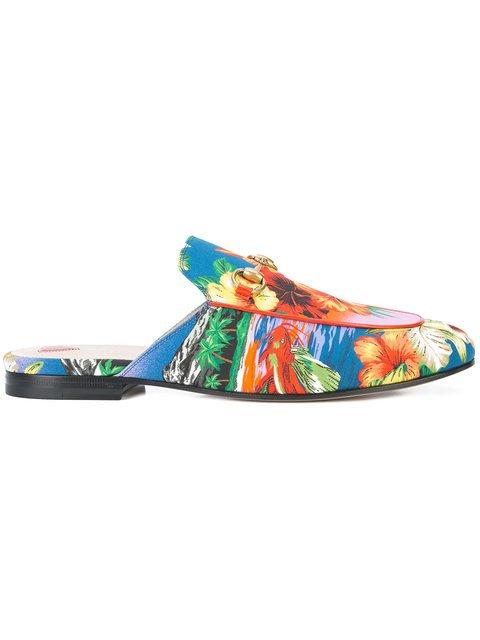 Gucci Princetown Hawaiian Print Slippers - Farfetch