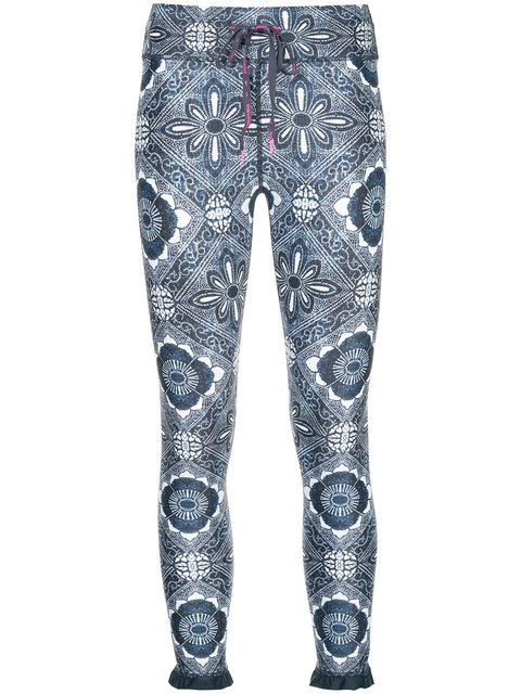 The Upside Ruffle Hem Print Leggings - Farfetch