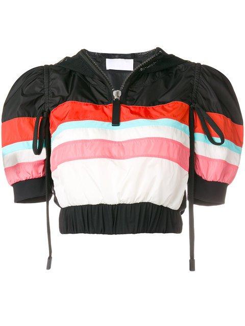 No Ka\' Oi Cropped Striped Sports Jacket - Farfetch