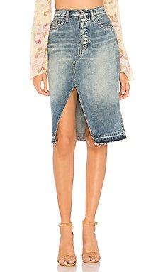 Denim Midi Skirt                                             Free People