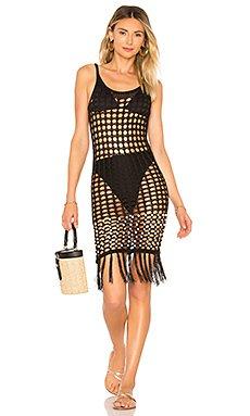 Crochet Net Slip Dress                                             Tularosa