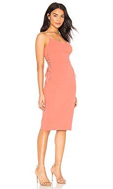 Lace Up Slip Midi Dress                                             1. STATE