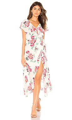 Pretty Petals Wrap Dress                                             MINKPINK