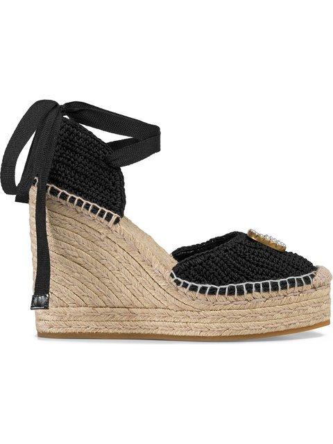 Gucci Crochet Platform Espadrilles - Farfetch
