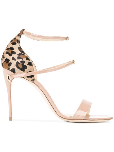 Jennifer Chamandi Nude Leopard Rolando 105 Sandals - Farfetch