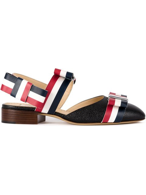 Thom Browne Signature Stripes Pointed Sandals - Farfetch