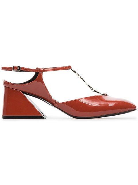 Yuul Yie Deep Tangerine 60 Patent Leather Pumps - Farfetch