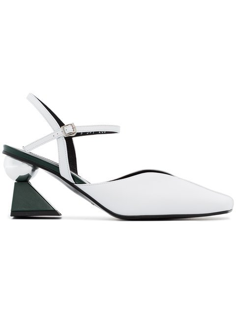 Yuul Yie White Glamour 70 Leather Pumps - Farfetch