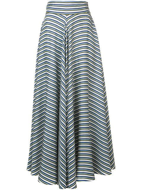 Dvf Diane Von Furstenberg High Waisted Striped Skirt - Farfetch
