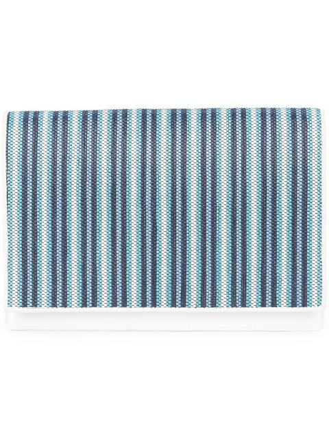 Dvf Diane Von Furstenberg Woven Stripe Clutch Bag - Farfetch