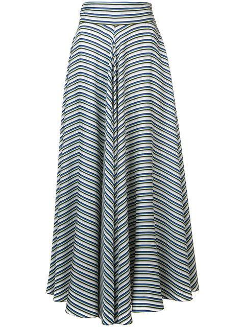 Dvf Diane Von Furstenberg High Waisted Striped Skirt - Farfetch