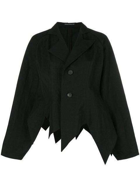 Yohji Yamamoto Pointed Hem Oversized Jacket - Farfetch