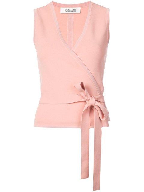 Dvf Diane Von Furstenberg Wrap Front Sleeveless Blouse - Farfetch
