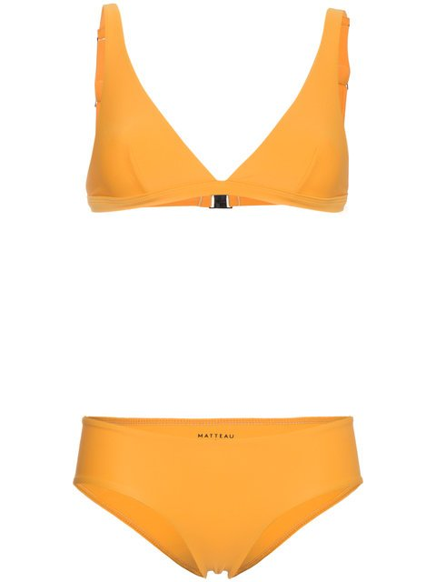 Matteau Orange Plunge High Waisted Bikini - Farfetch