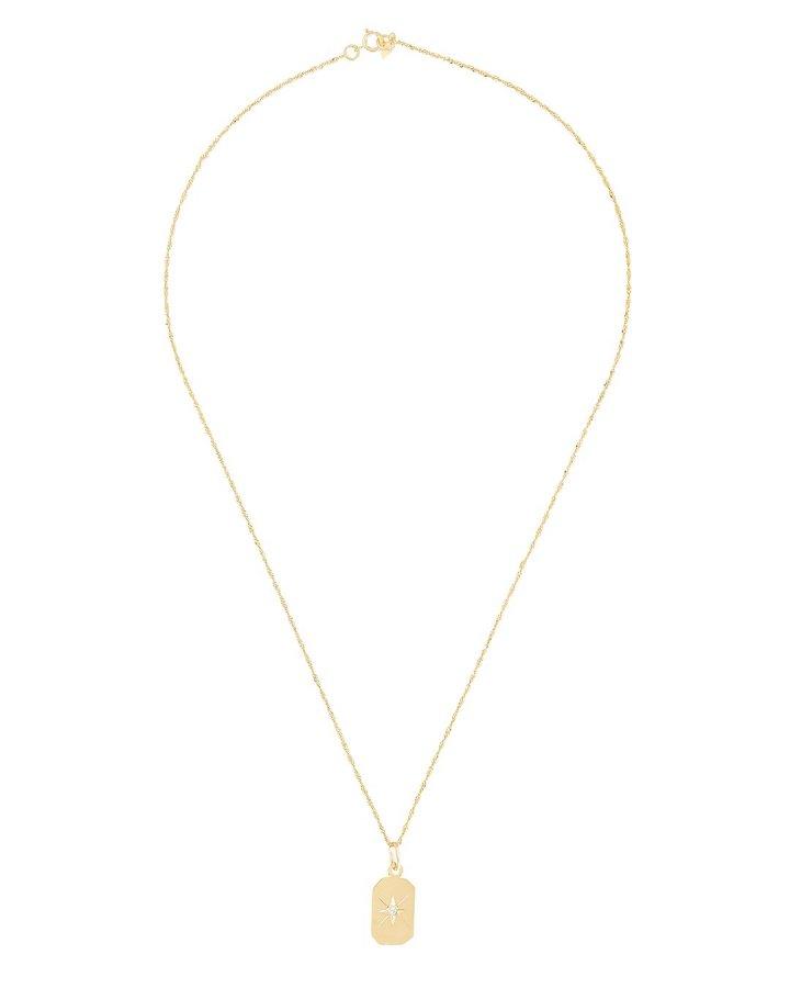 Diamond Starburst ID Tag Necklace