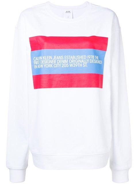 Calvin Klein Jeans Est. 1978 Designer Bio Print Sweatshirt - Farfetch
