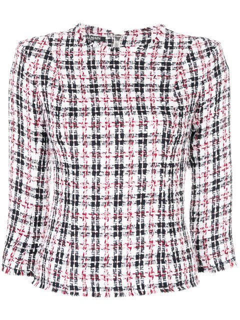 Balmain Summer Tweed Blouse - Farfetch