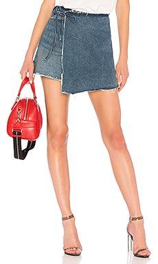 Ella High-Rise Wrap Skirt                                             GRLFRND