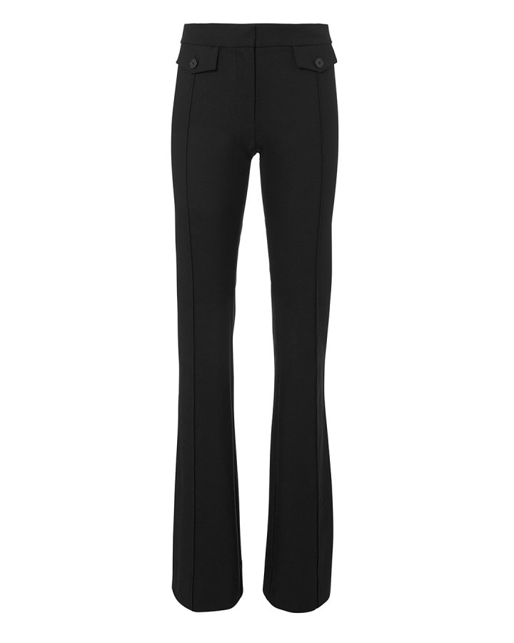 Pocket Detail Flare Trousers