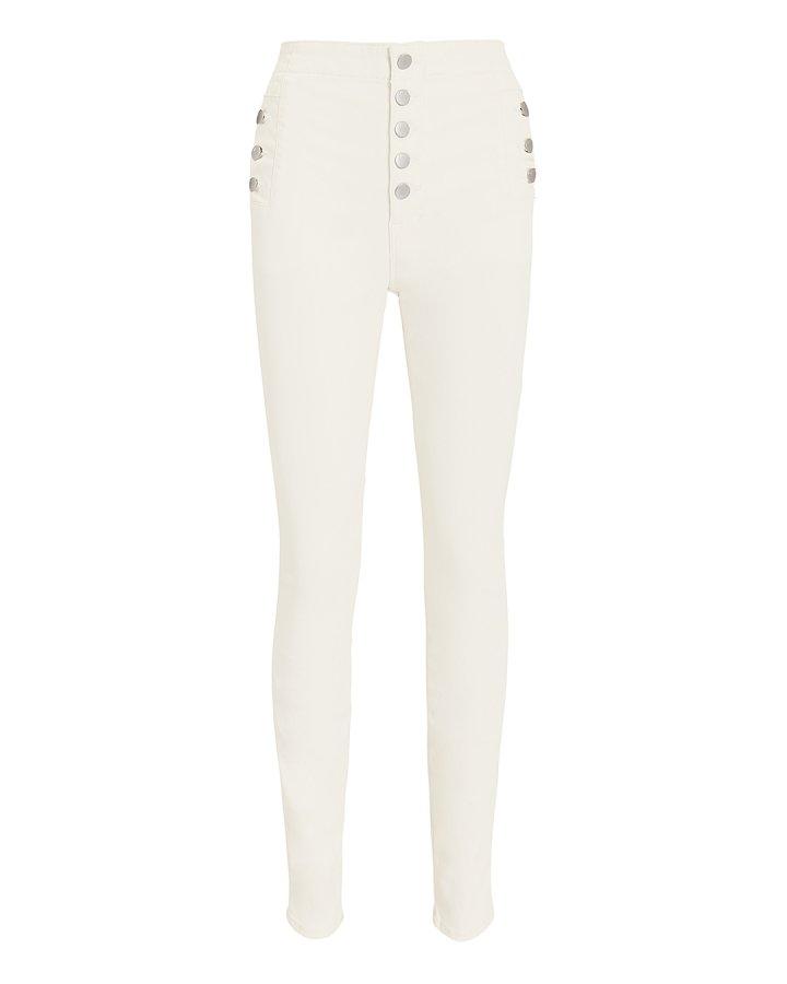 Natasha High Rise White Skinny Jeans