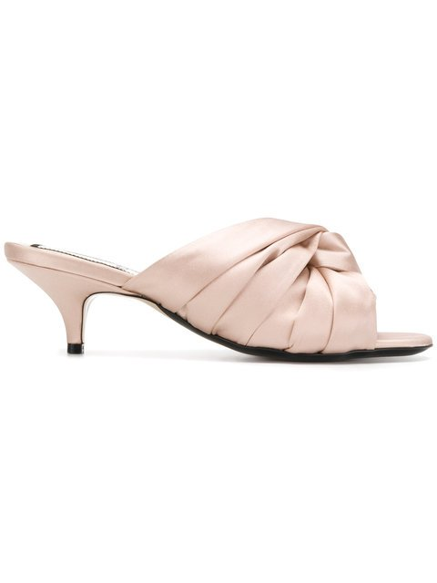 Nº21 Knotted Bow Mules - Farfetch