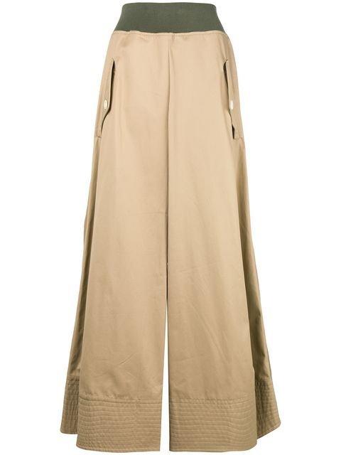 Sacai Full High Waisted Skirt  - Farfetch