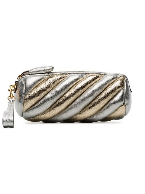 Anya Hindmarch Silver And Gold Metallic Marshmallow Leather Clutch - Farfetch
