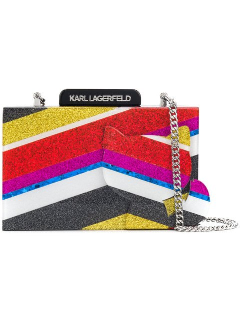 Karl Lagerfeld K Stripes Choupette Clutch - Farfetch