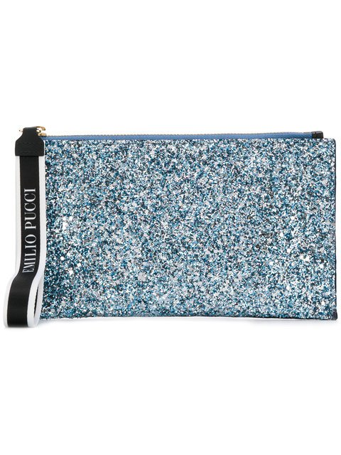 Emilio Pucci Two-tone Zip Clutch - Farfetch