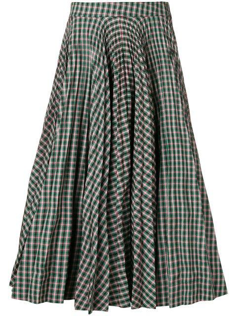 Calvin Klein 205W39nyc Tartan Full Skirt - Farfetch