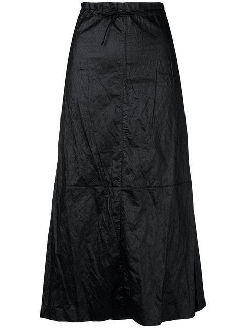 Mm6 Maison Margiela Crinkle Effect Full Skirt - Farfetch