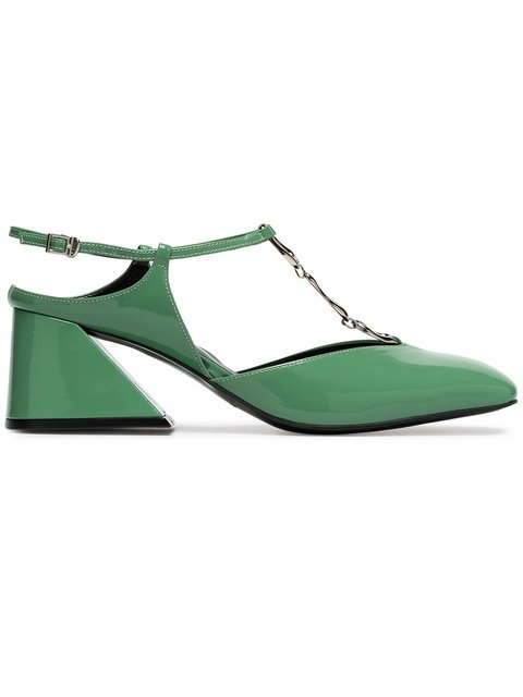 Yuul Yie Green Glamour 60 Patent Leather Pumps - Farfetch