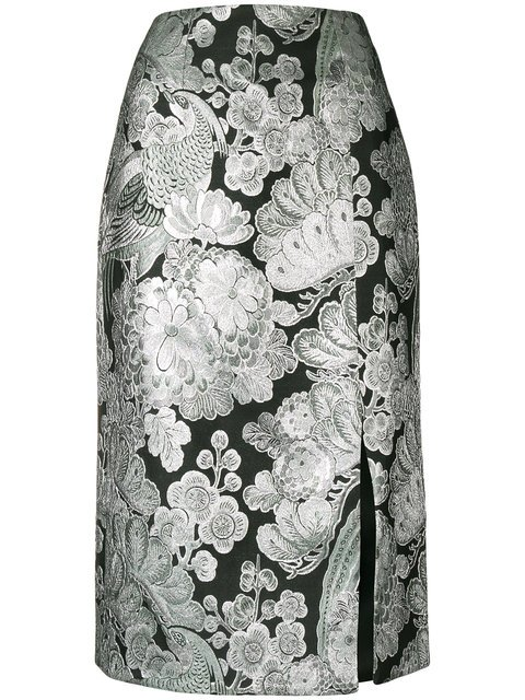 Erdem Metallic Pattern Skirt - Farfetch
